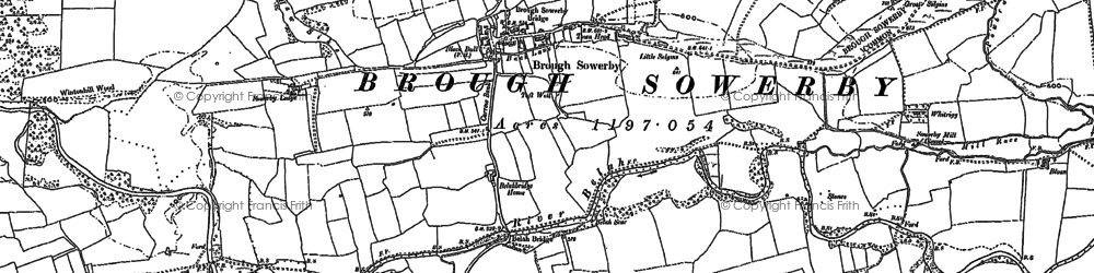 Old map of Whitrigg in 1898
