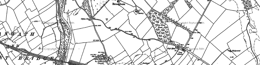 Old map of Whins Pond in 1913
