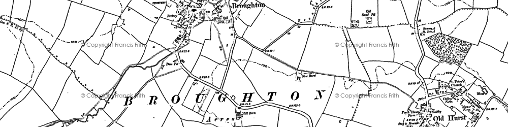 Old map of Broughton in 1887