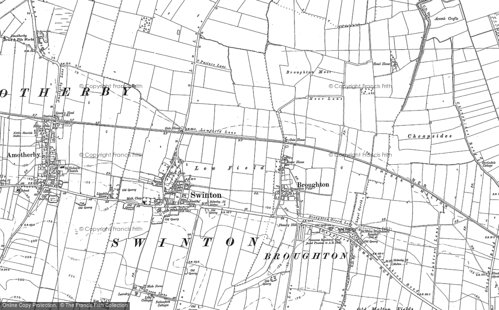 Map of Broughton, 1889 - 1890