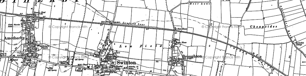 Old map of Broughton in 1889