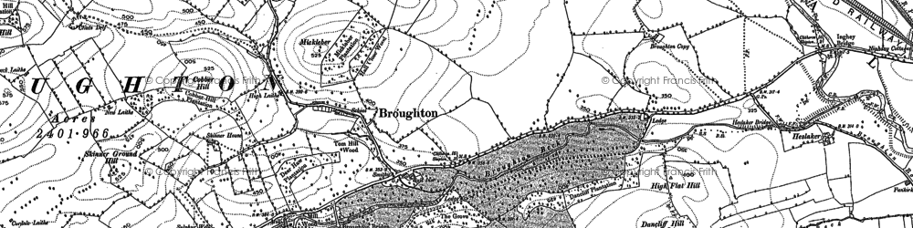 Old map of Broughton in 1892