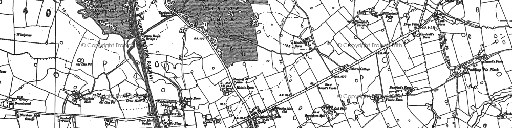 Old map of Whittingham Ho in 1892