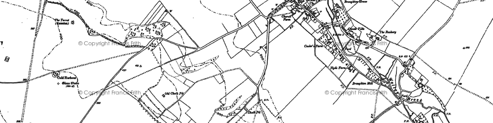 Old map of Whiteshoot Hill in 1894