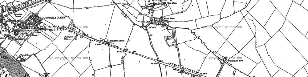 Old map of Broughton in 1898