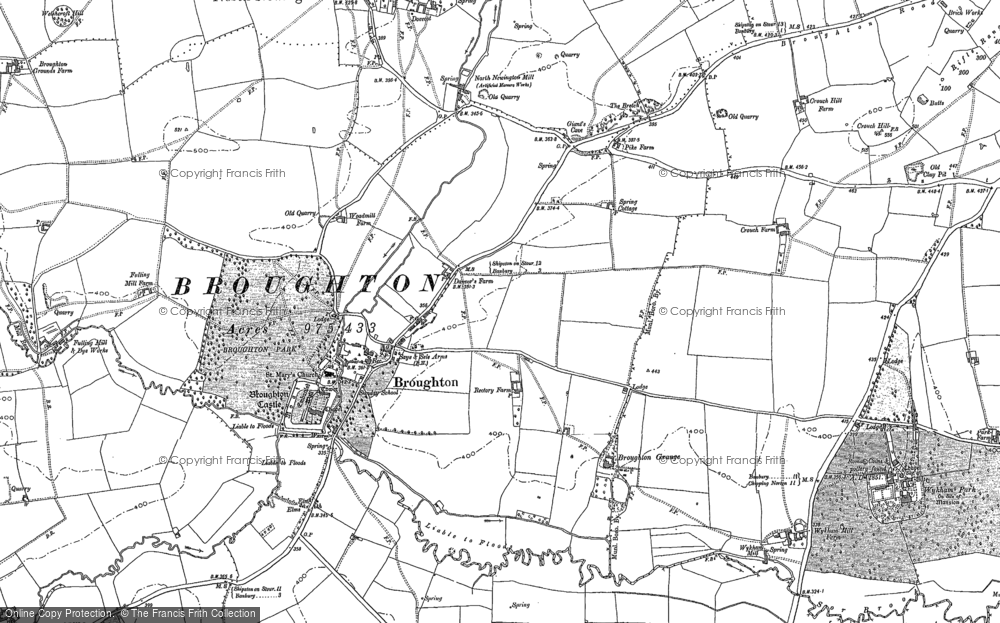 Old Map of Broughton, 1899 - 1920 in 1899