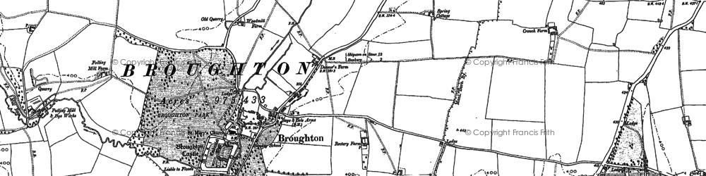Old map of Broughton in 1899