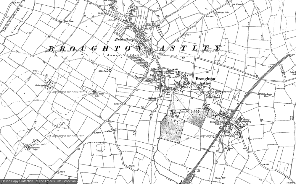 Old Map of Broughton Astley, 1885 - 1901 in 1885