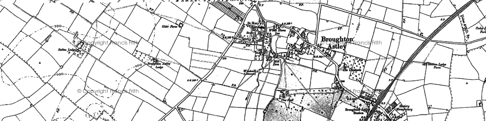 Old map of Broughton Astley in 1885