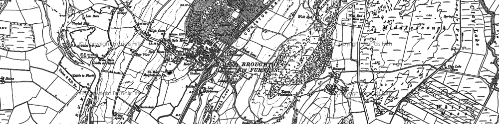 Old map of Broughton in Furness in 1911