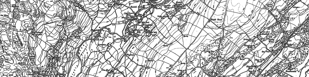 Old map of Ball Hall in 1912
