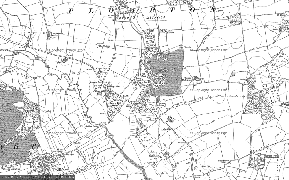 Old Map of Historic Map covering Aketon in 1883