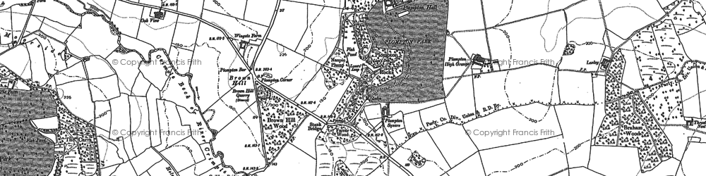Old map of Aketon in 1883