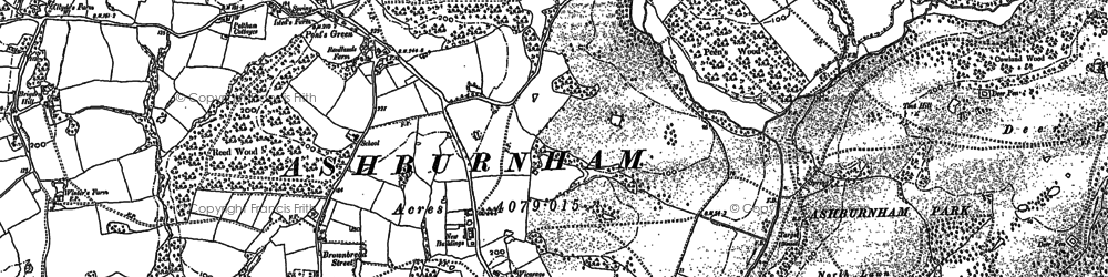 Old map of Ash Bourne in 1897