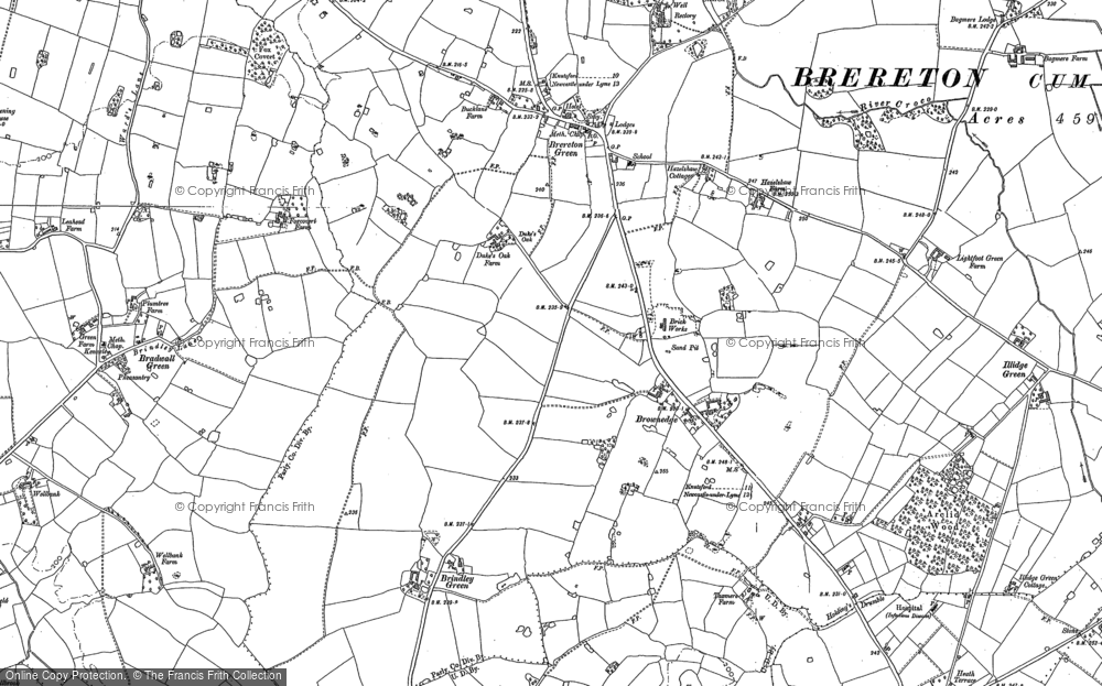 Old Map of Brownedge, 1896 - 1897 in 1896