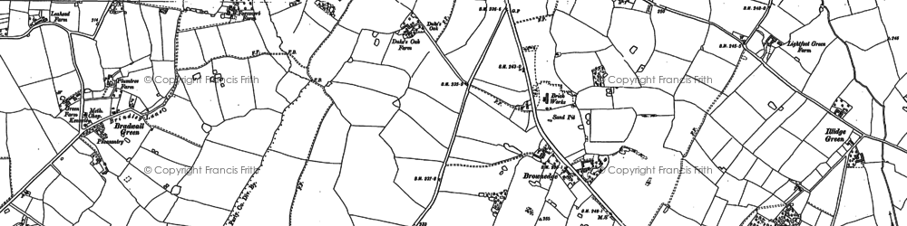 Old map of Brownedge in 1896