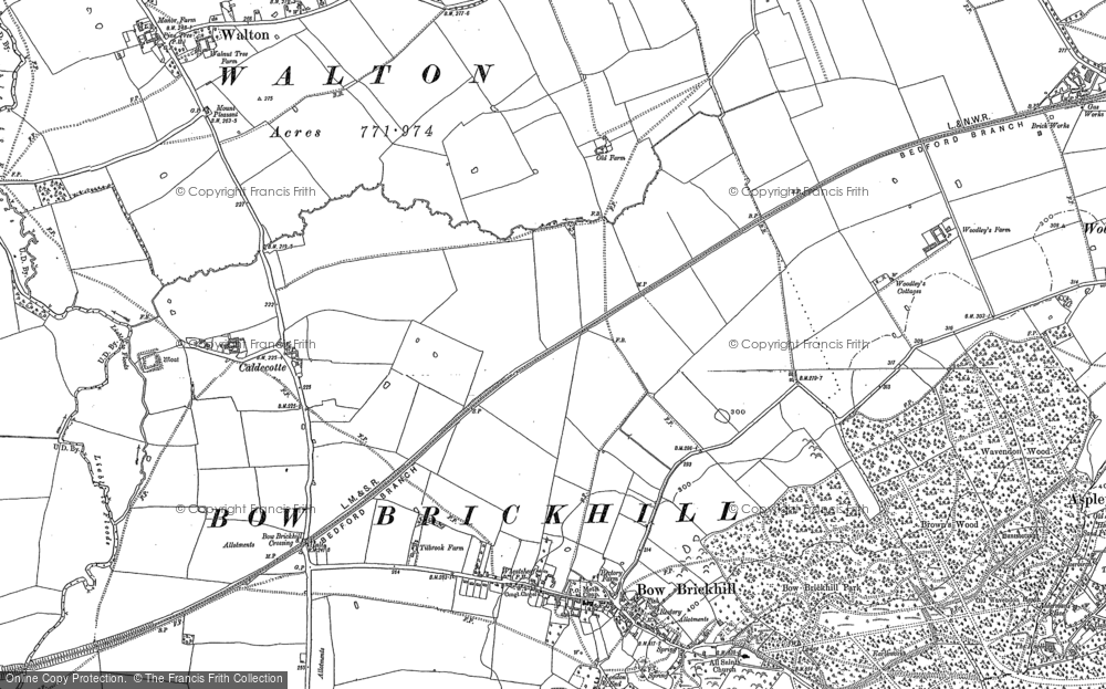 Old Map of Browns Wood, 1900 - 1924 in 1900