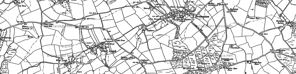 Old map of Witchcombe in 1885