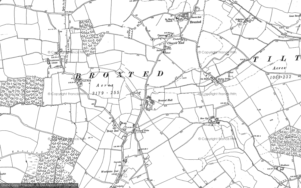 Old Map of Historic Map covering Wood Farmhouse in 1876