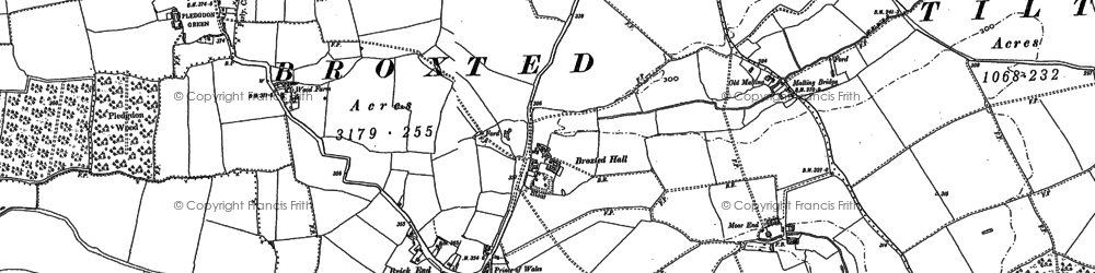 Old map of Woodgates End in 1876