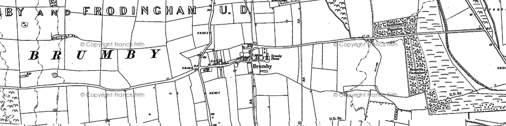 Old map of Brumby in 1885
