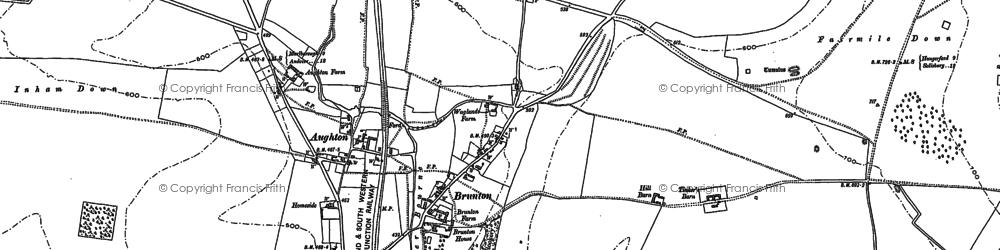 Old map of Brunton in 1899