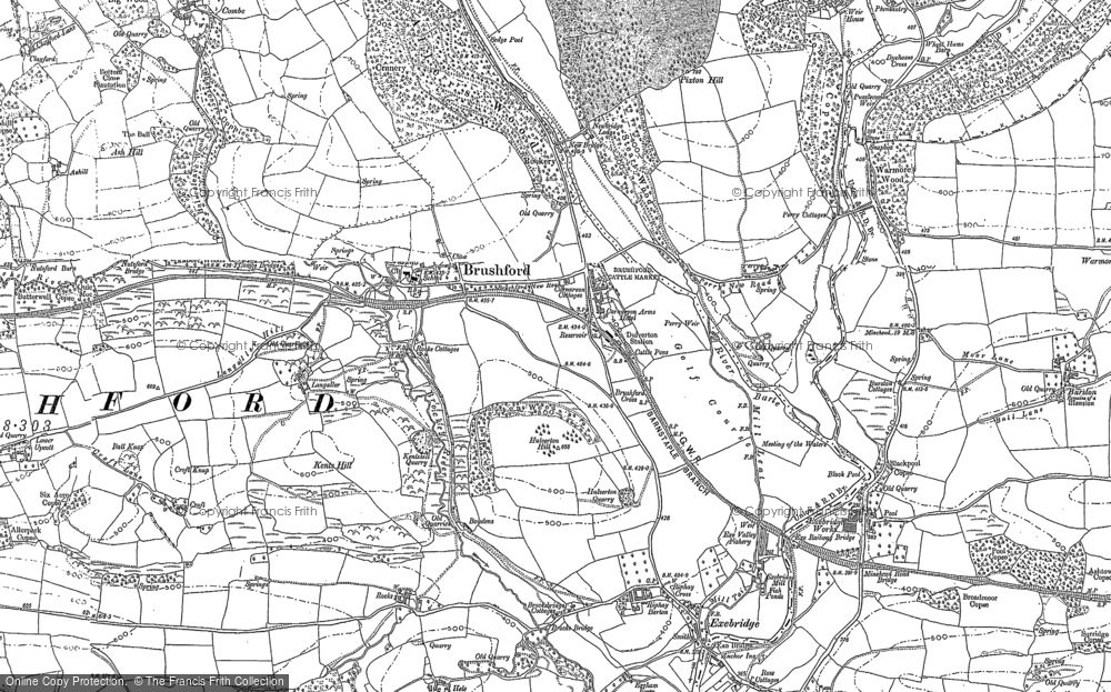 Old Map of Historic Map covering Langridge in 1902