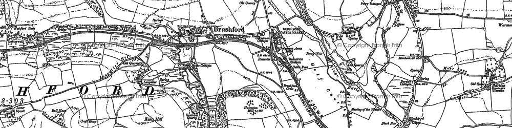 Old map of Langridge in 1902