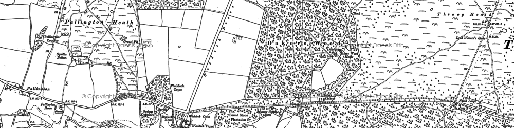 Old map of Affpuddle Heath in 1886