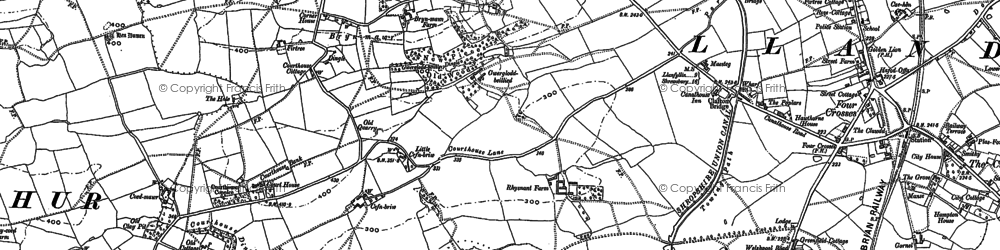 Old map of Bryn Mawr in 1900