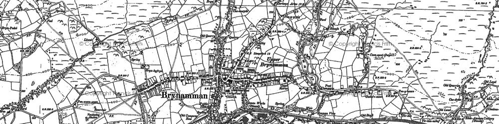 Old map of Brynamman in 1877