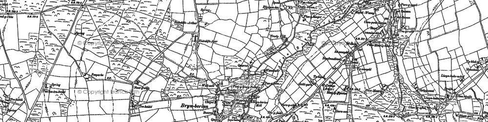 Old map of Afon Pennant in 1888