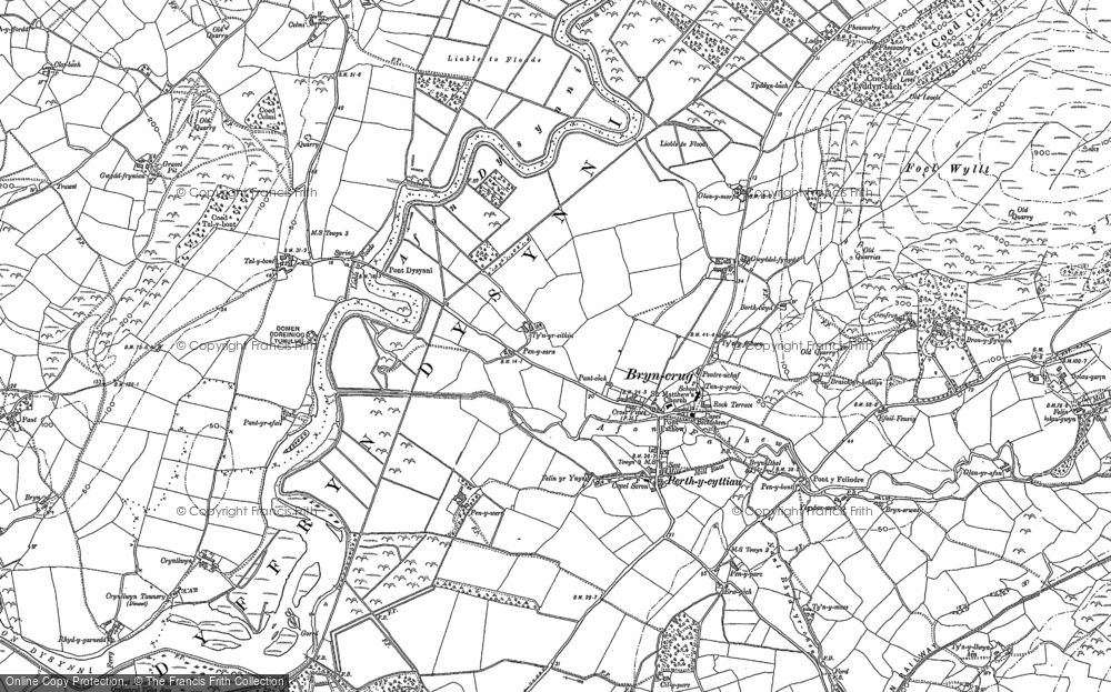 Old Map of Historic Map covering Afon Dysynni in 1900