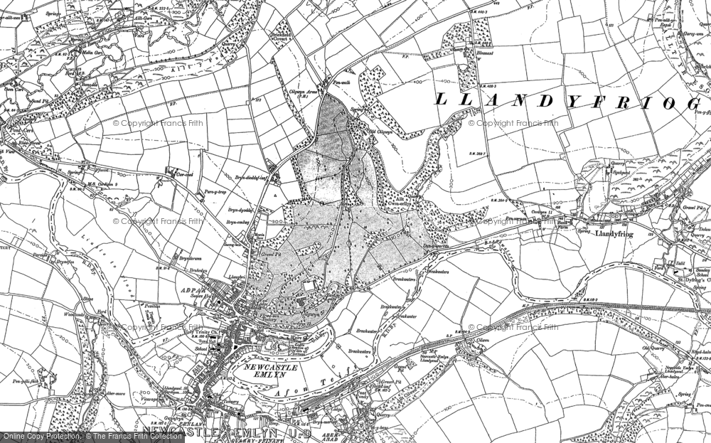 Old Map of Bryndioddef, 1887 - 1904 in 1887