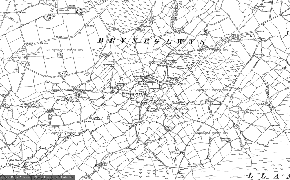 Old Map of Historic Map covering Afon Morwynion in 1899