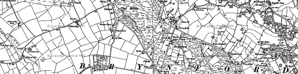 Old map of Brynford in 1898