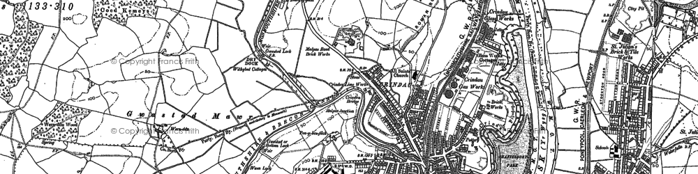 Old map of Barrack Hill in 1900