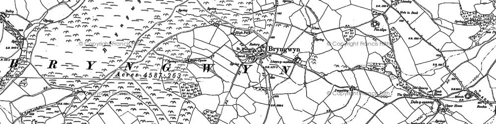 Old map of Bryngwyn in 1887