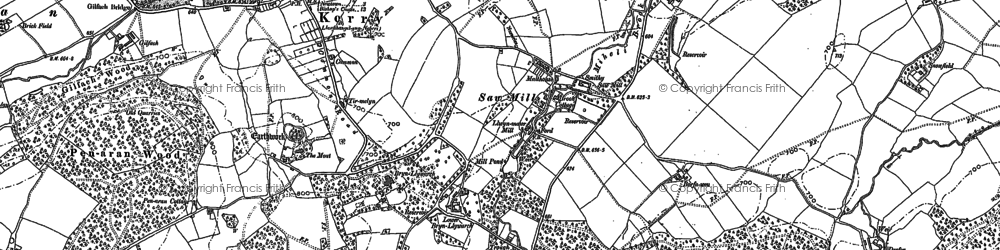 Old map of Brynllywarch in 1884