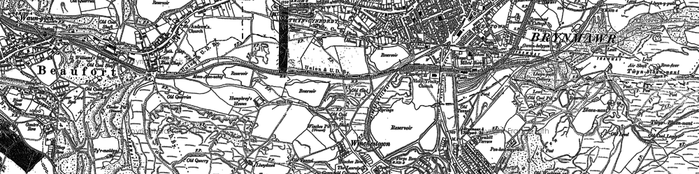 Old map of Brynmawr in 1879