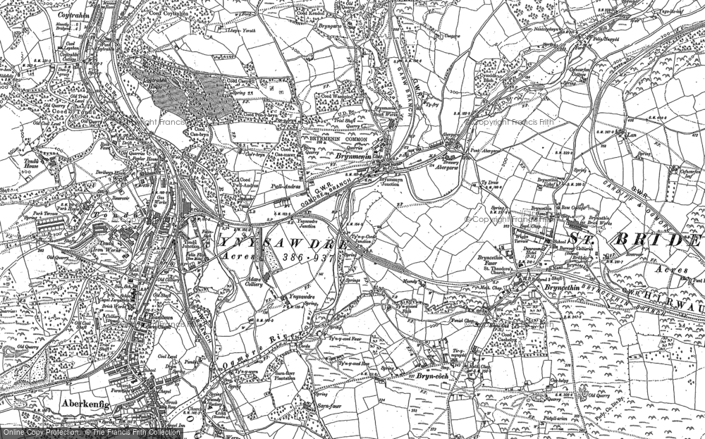 Old Map of Brynmenyn, 1897 in 1897