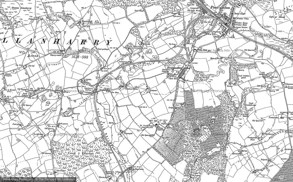 Old Map of Brynsadler, 1897 - 1898 in 1897