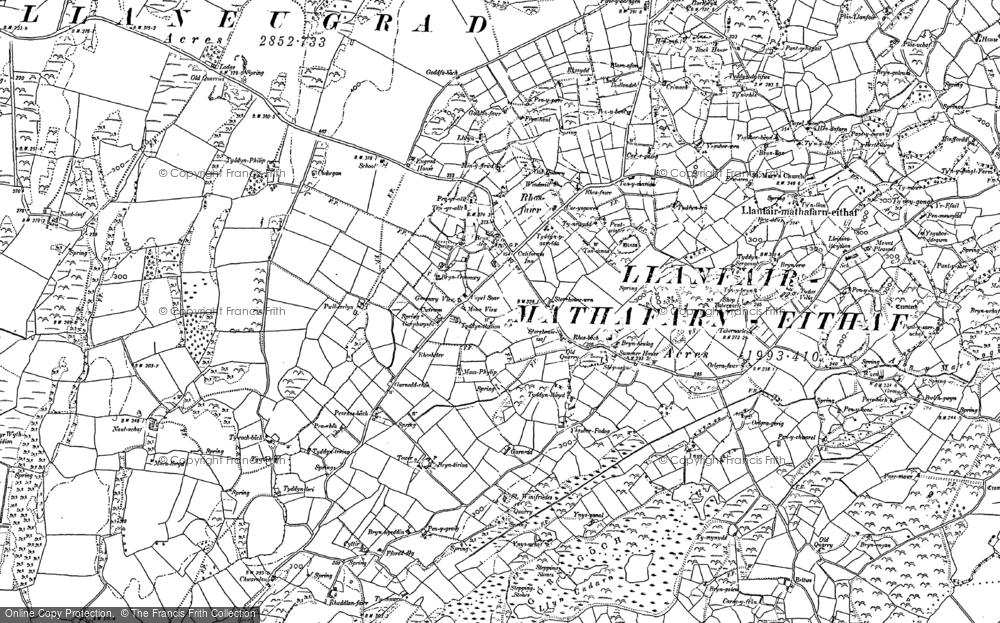 Old Map of Brynteg, 1887 - 1899 in 1887