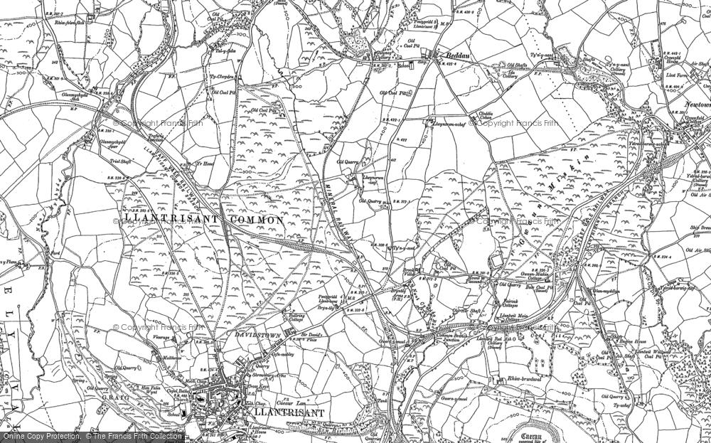 Old Map of Brynteg, 1898 in 1898