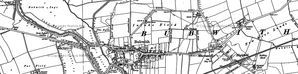 Old map of Aughton Grange in 1889