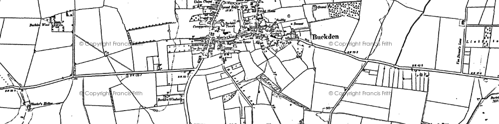 Old map of Buckden in 1887