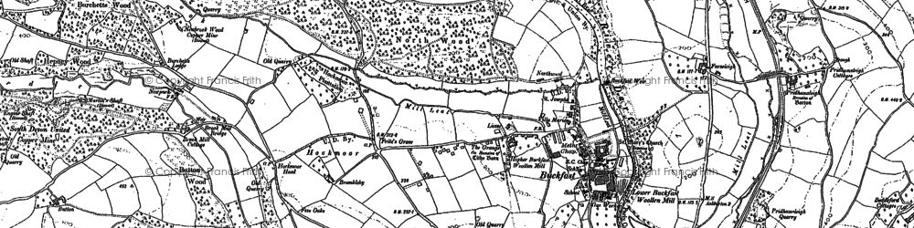 Old map of Baddaford in 1885