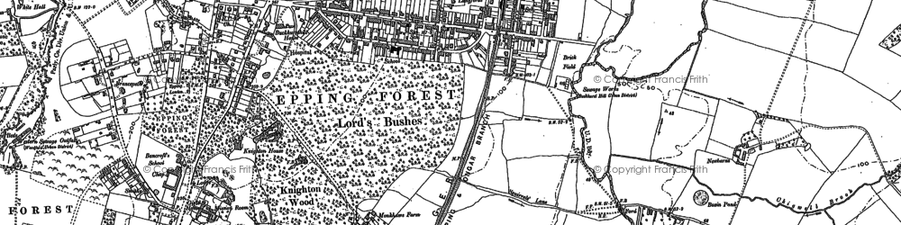 Old map of Buckhurst Hill in 1895