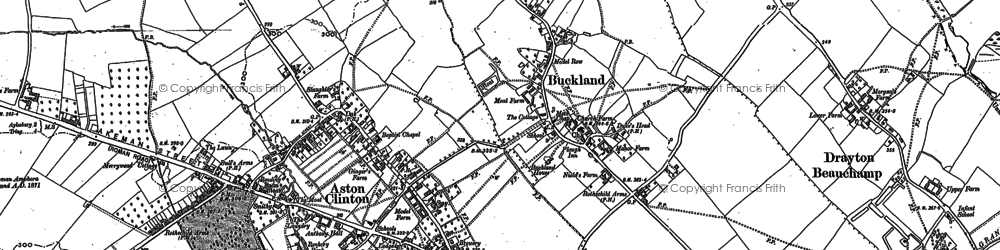 Old map of Buckland in 1898
