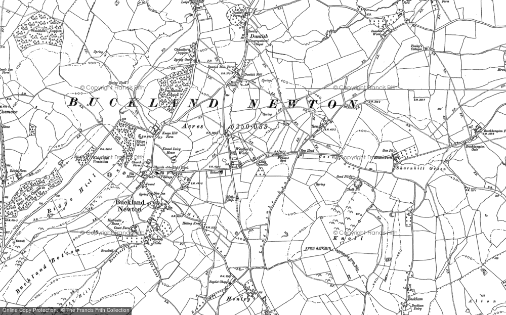 Old Map of Historic Map covering Woolford's Water in 1887